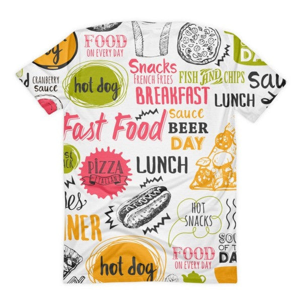All over print - Food love Women's sublimation t-shirt - Hutsylife - 2