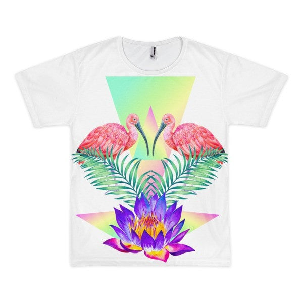 Lily Flamingo Short sleeve men's t-shirt - Hutsylife