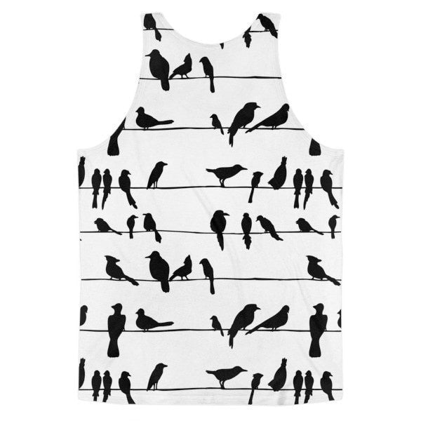 All over print - Bird talk Classic fit men's tank top - Hutsylife - 2