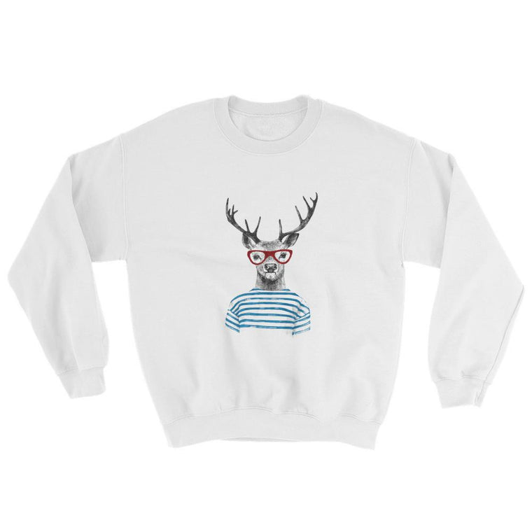 Deer Stripes Crewneck