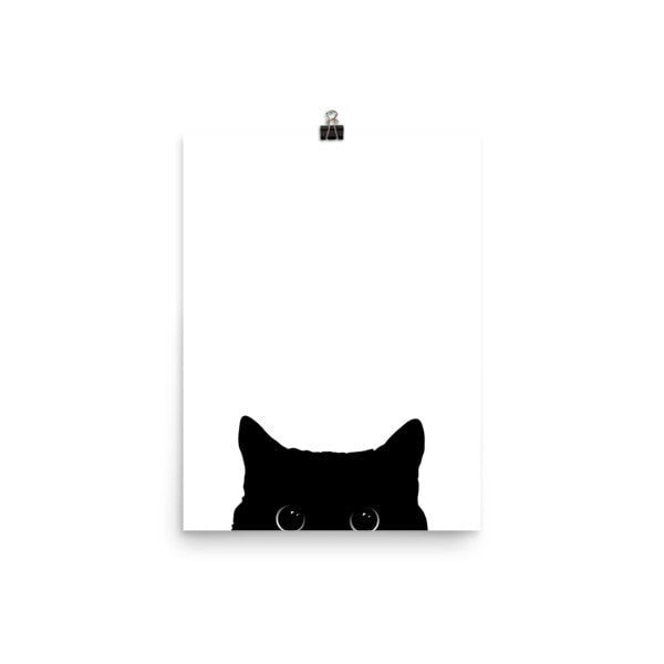 Peeking cat Poster - Hutsylife - 5