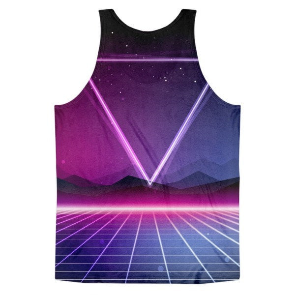 All over print - Retro 80's Classic fit men's tank top - Hutsylife - 2