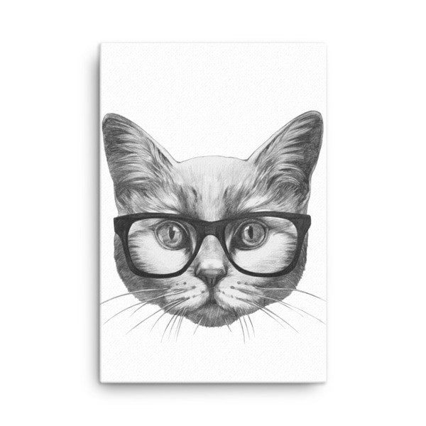 Eyeglass cat Canvas - Hutsylife - 4