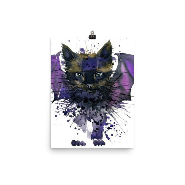 Bat cat Poster - Hutsylife - 5
