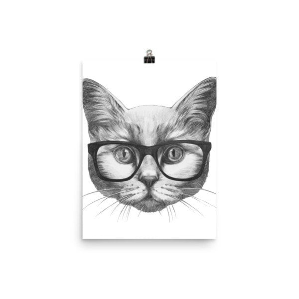 Eyeglass cat Poster - Hutsylife - 5