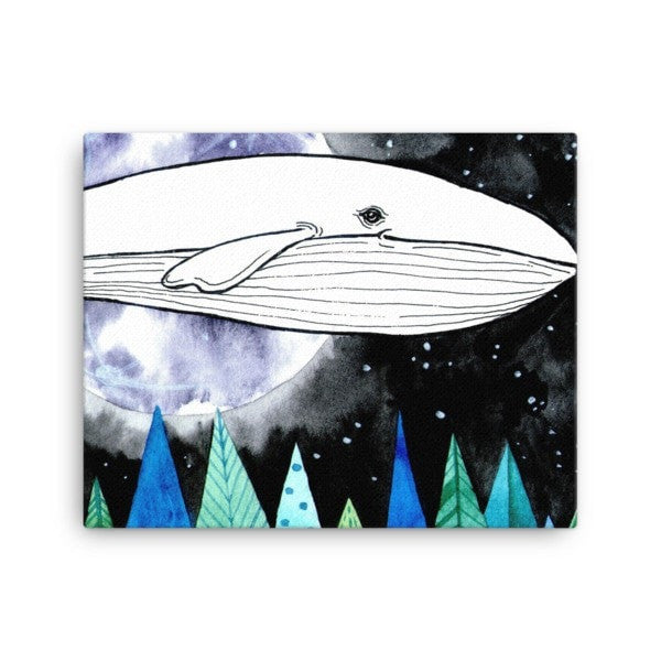 Lost whale Canvas - Hutsylife - 2
