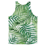 All over print - Tropical leaves Classic fit men's tank top - Hutsylife - 2