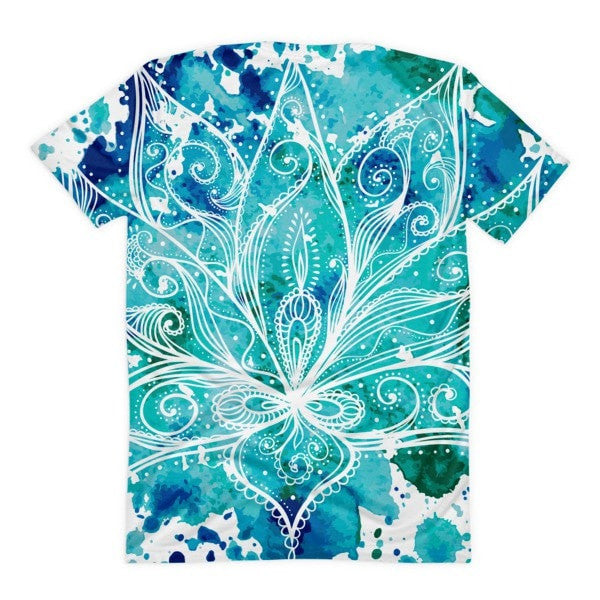 All over print - Boho Lotus Women's sublimation t-shirt - Hutsylife - 2