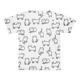 All over print - Cat doodle Short sleeve men's t-shirt - Hutsylife - 2