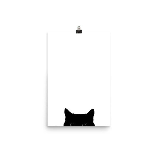 Peeking cat Poster - Hutsylife - 7