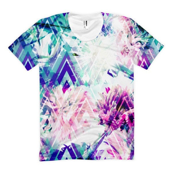 All over print - Spring floral Women's sublimation t-shirt - Hutsylife - 1