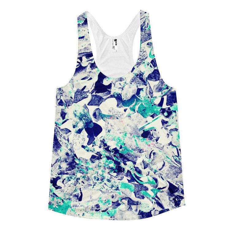 All over print - Marble wave Women's racerback tank