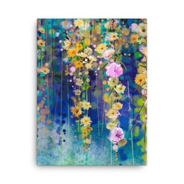 Blue & Yellow lush Canvas - Hutsylife - 3