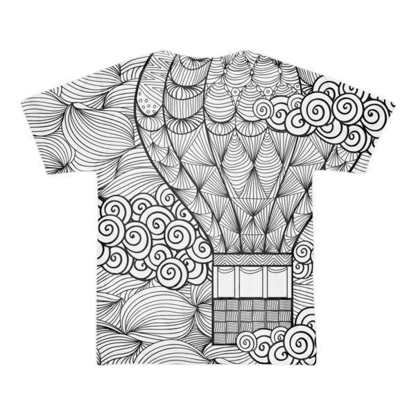 All over print - Hot air Balloon Short sleeve men's t-shirt - Hutsylife - 2