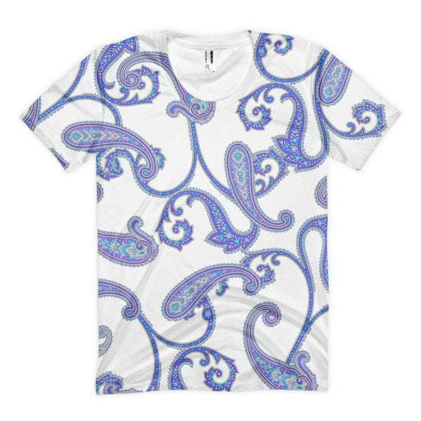 All over print - Blue swimmy's Women's Sublimation T-Shirt - Hutsylife - 1