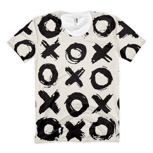 All over print - XO Women's sublimation t-shirt - Hutsylife - 1