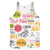 All over print - Food love Classic fit men's tank top - Hutsylife - 1