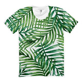 All over print - Tropical leaves Women's Sublimation T-Shirt - Hutsylife - 1