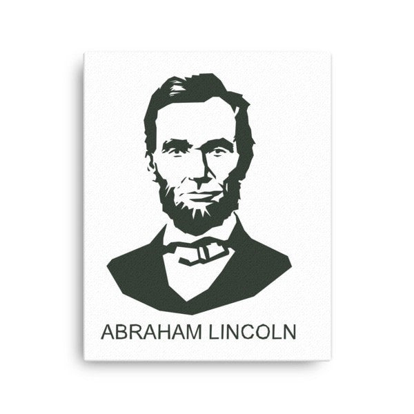 Lincoln  Abraham Canvas - Hutsylife - 2