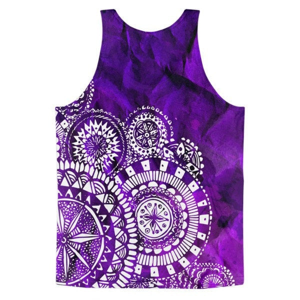 All over print - Purple Veritas Classic fit Men's tank top - Hutsylife - 2