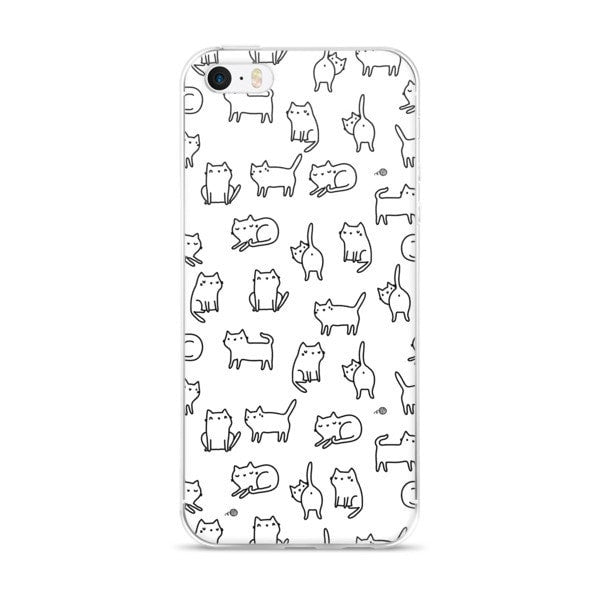 Cat doodle iPhone case - Hutsylife - 1
