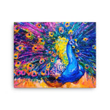 Peacock rain Canvas - Hutsylife - 2