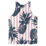 All over print - Pineapple stripes Classic fit men's tank top - Hutsylife - 2