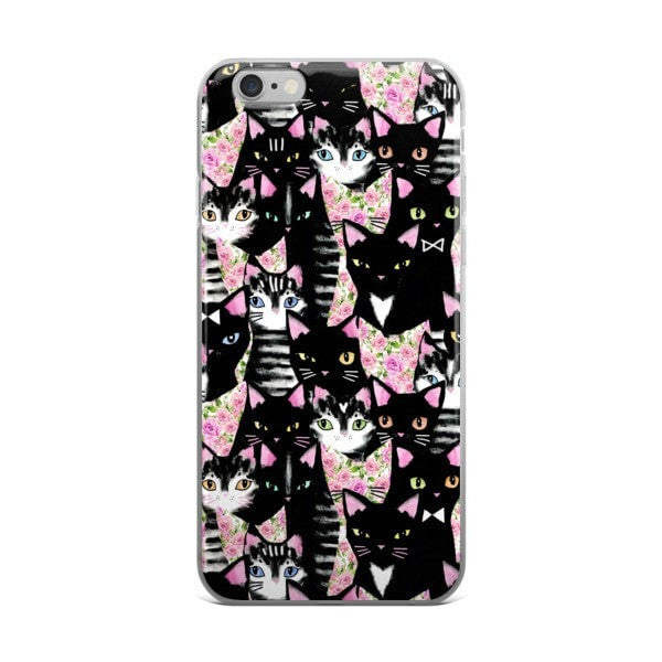 Cat collage iPhone case - Hutsylife - 2