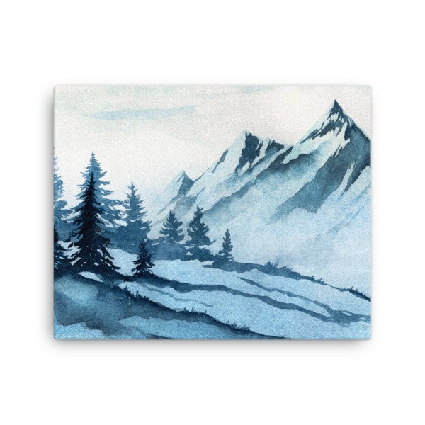 Watercolor mountain Canvas - Hutsylife - 2