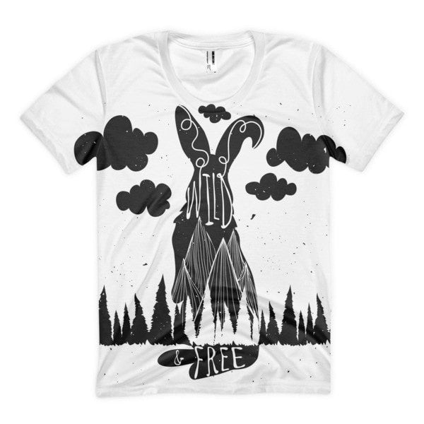 Wild & Free Women's Sublimation T-Shirt - Hutsylife