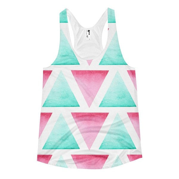 All over print - Blended Women's racerback tank - Hutsylife - 1