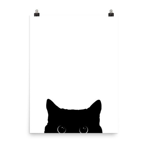 Peeking cat Poster - Hutsylife - 6