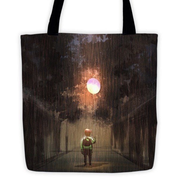 Glowing Balloon Tote bag - Hutsylife