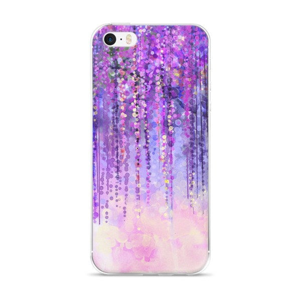 Dark purple lush iPhone case