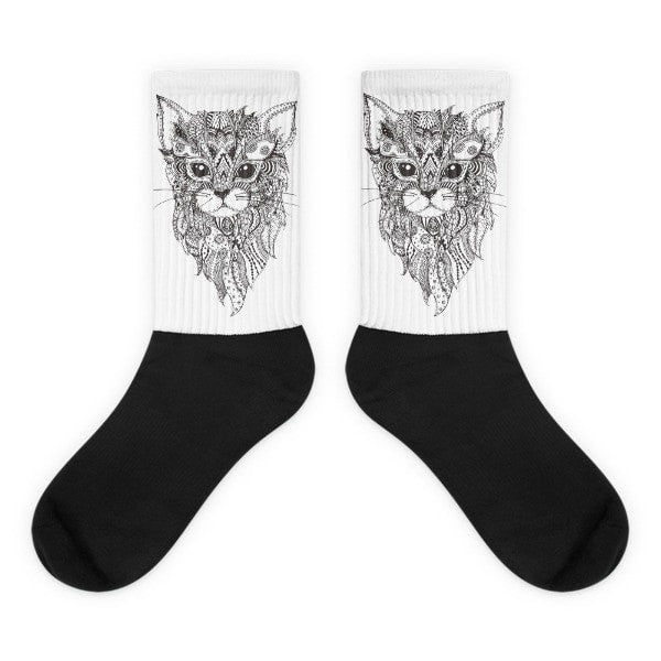 Zendala cat Black foot socks