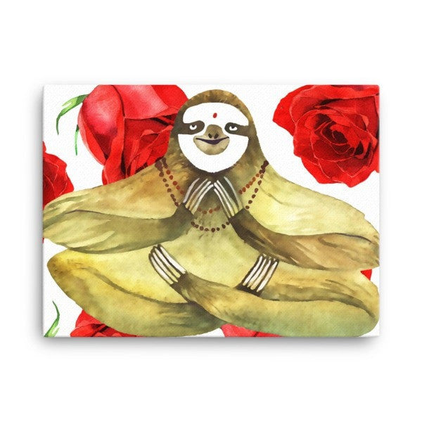 Rose sloth Canvas - Hutsylife - 3