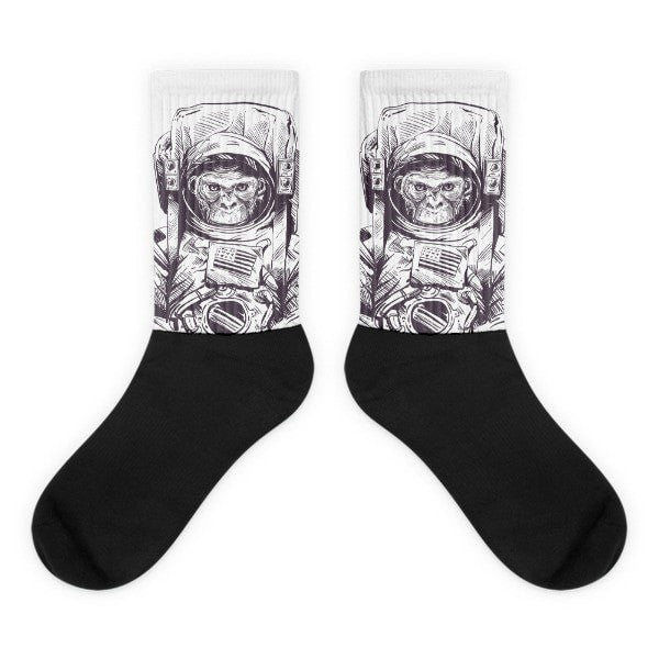 Space monkey Black foot socks