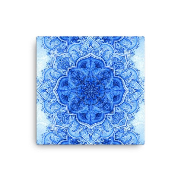 Continous blue moroccan floral Canvas - Hutsylife - 1
