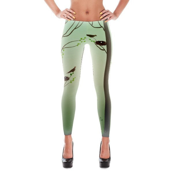 Spring forest Leggings - Hutsylife - 1
