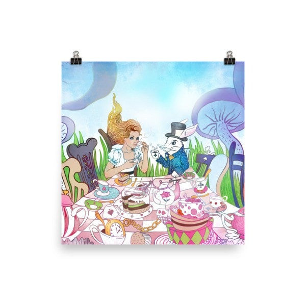 Tea party Alice Poster