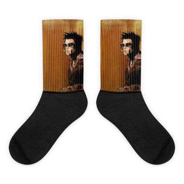 Tyler Durden Black foot socks - Hutsylife