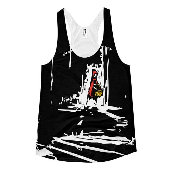 Red riding hood Women's Racerback Tank - Hutsylife