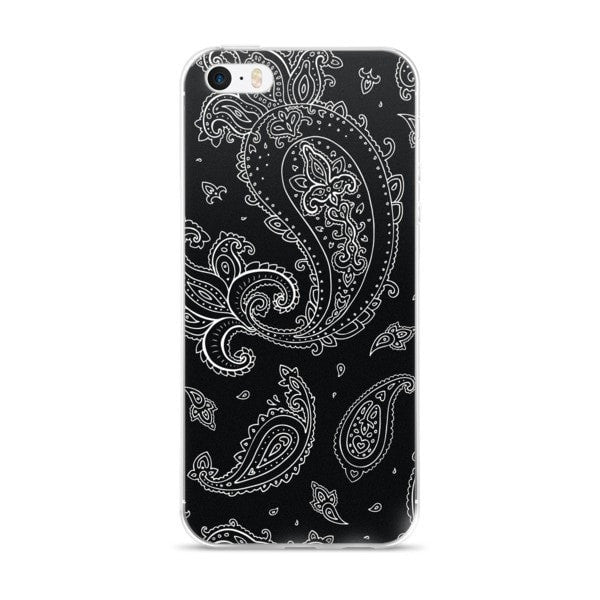 Black Paisely iPhone case - Hutsylife - 1