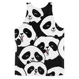 All over print - Panda love Classic fit men's tank top - Hutsylife - 2