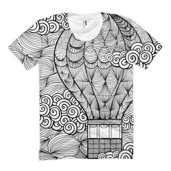 All over print - Hot air Balloon Women's sublimation t-shirt - Hutsylife - 1