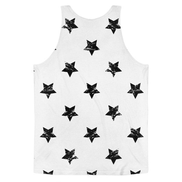 All over print - White star Classic fit men's tank top - Hutsylife - 2