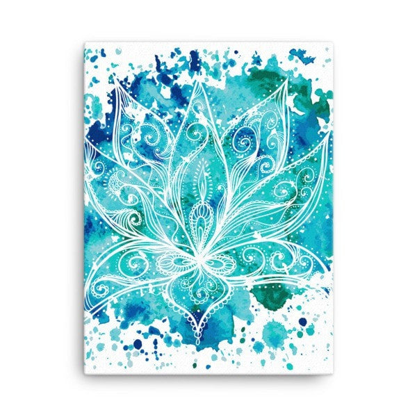 Boho lotus Canvas - Hutsylife - 3