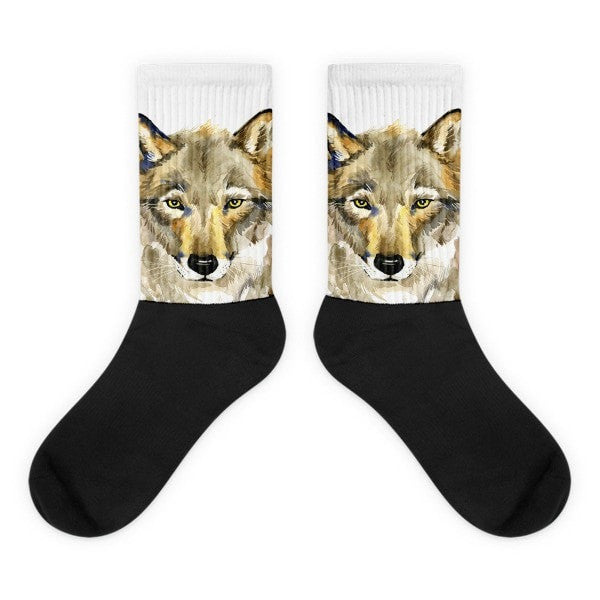 Wolf's Gaze Black foot socks