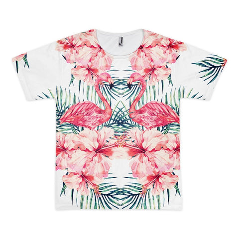 All over print - Flamingo Stare Short sleeve men's t-shirt
