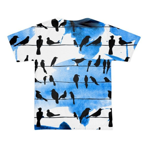 All over print - Chillin' birds Short sleeve men's t-shirt - Hutsylife - 2